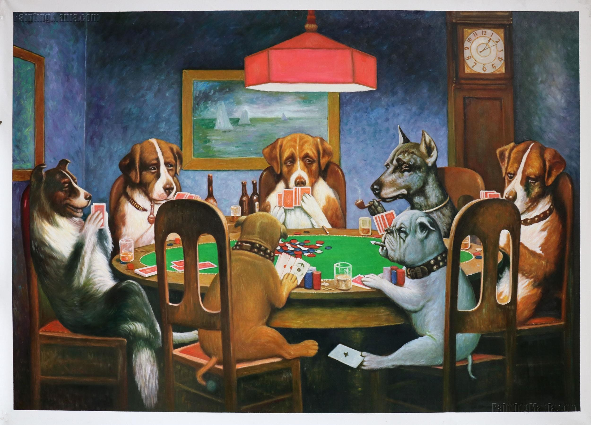 A Friend In Need Cassius Marcellus Coolidge Hand Painted Oil Etsy Dogs Playing Poker Poker Painting