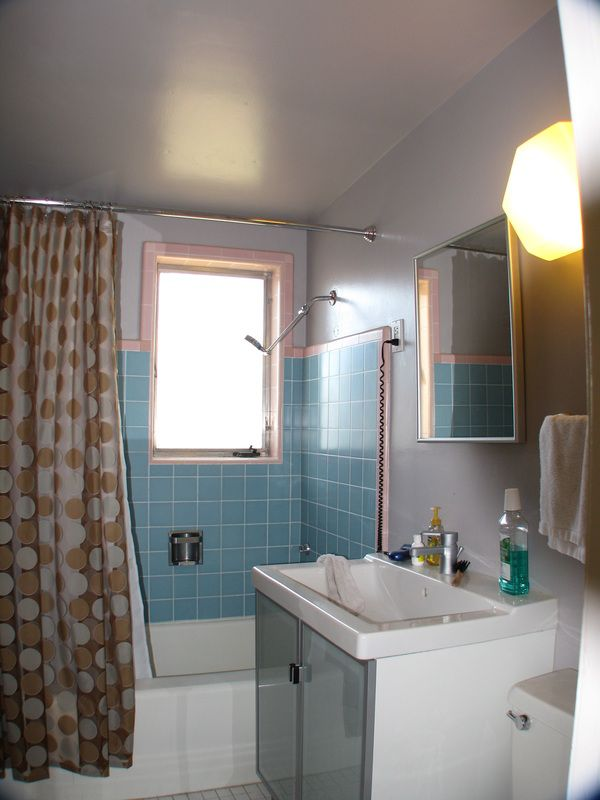 Awesome Cool Nice Wonderful Fantastic Awesome Bathroom Remodel Mid Centrury With  Blue Wall Accent Concept With Small