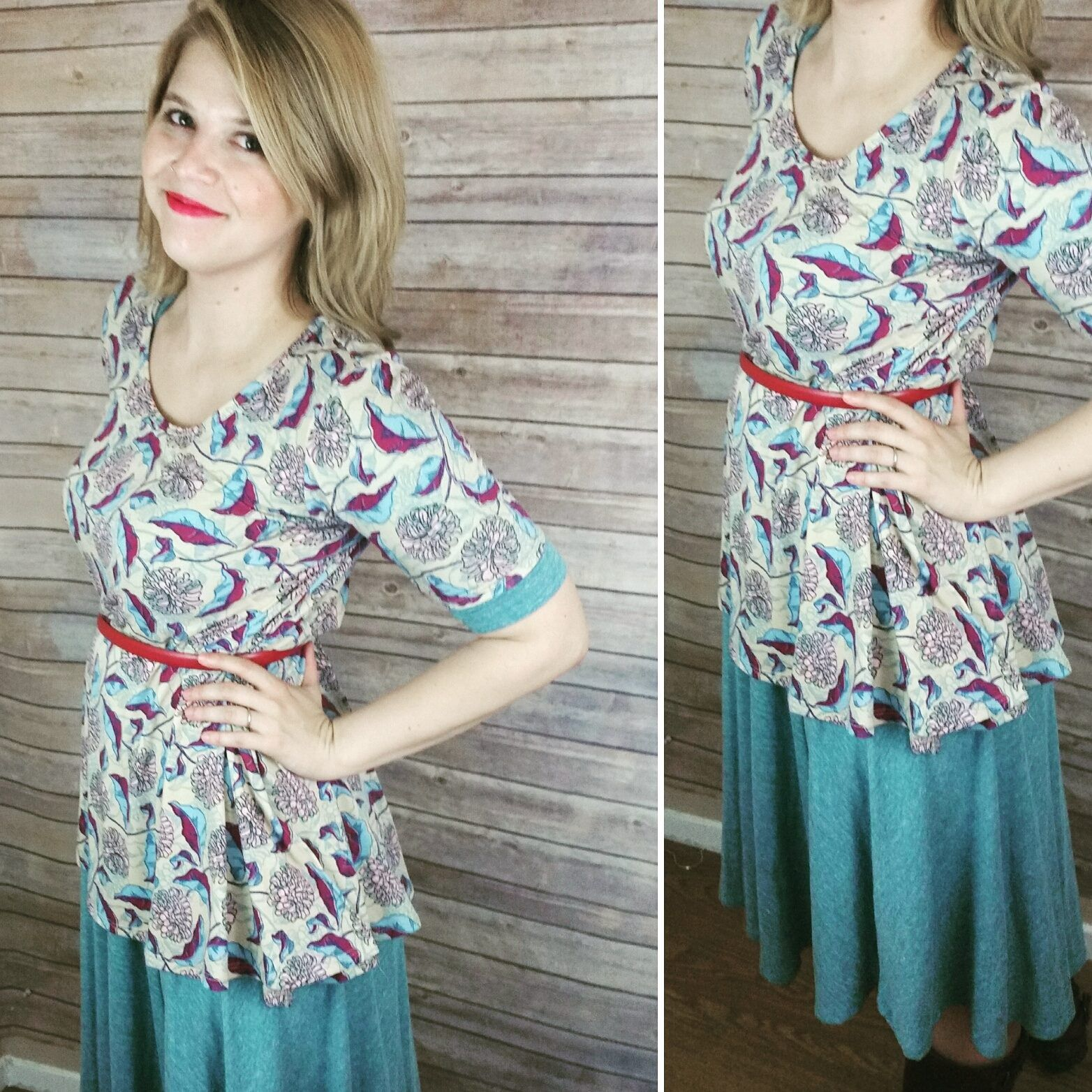 fce9af4c34c style tip    layer a lularoe perfect over your lularoe nicole dress and  belt it.  3