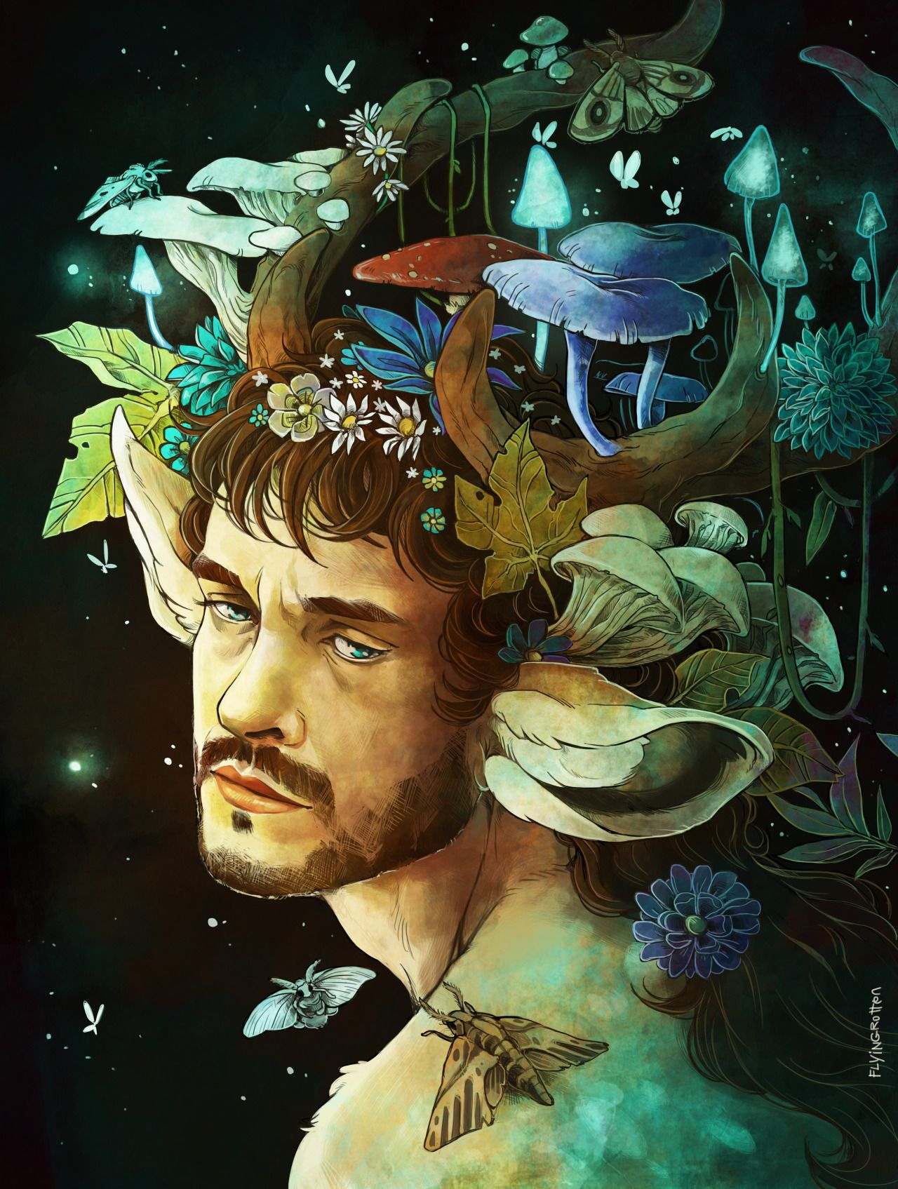 Flower Crowns Are A Thing Hannibal Tattoo Inspiration Pinterest