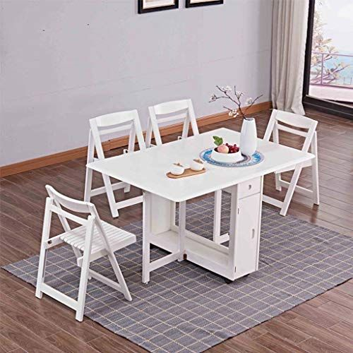 Ftftftf Simple Modern Small Dining Table And Chair Rectangular Folding Retractable Room Solid Wood
