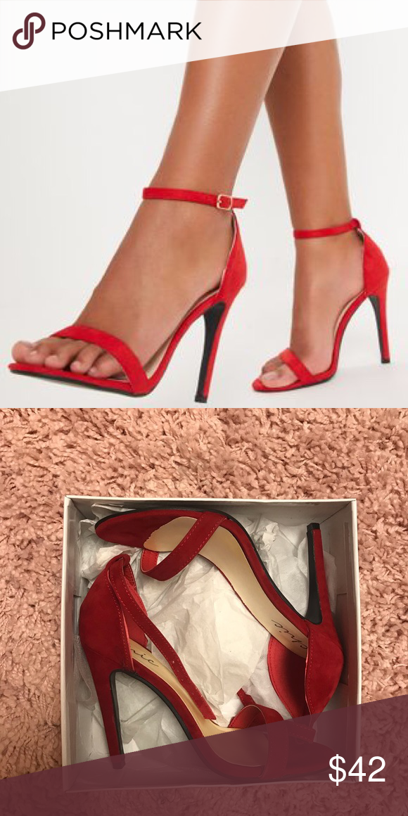 f0f9b2a92 Clover Red Strap Heeled Sandals NWT- packages in original box. came in the  mail