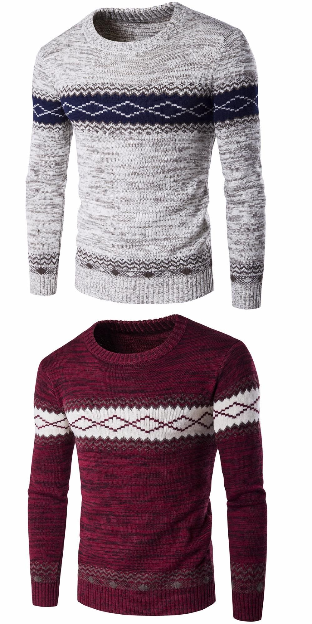 3287d3a286c9 Pull Homme 2017 O-Neck Sweaters Knitted Long Sleeve Men Sweater Mens ...