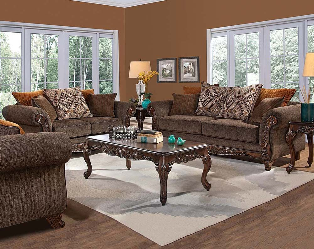 Gunslinger Bark Sofa Amp Loveseat Brown Sofa Set Brown
