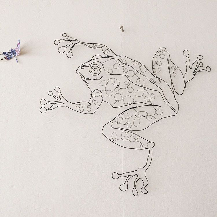 Drahtobjekt Frosch | Schmuck aus Draht | Pinterest | Frösche, Draht ...