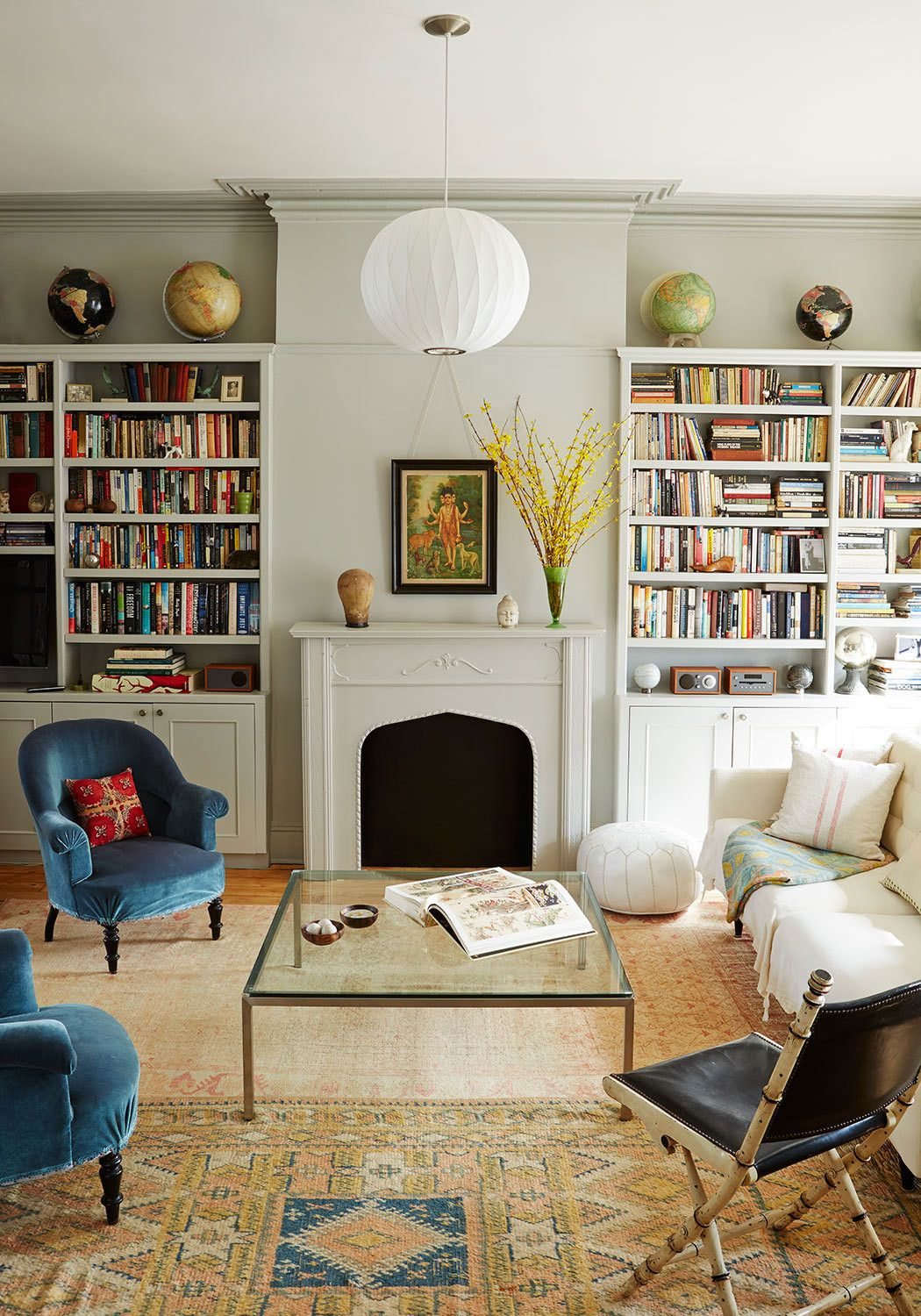 get the look an eclectic living room george nelson light get the look an eclectic living room