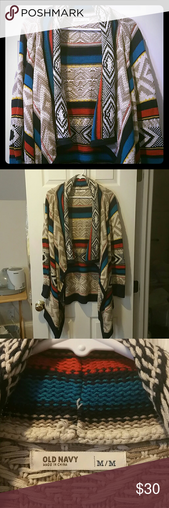 Woman's NWOT Old Navy Aztec Sweater Coat | Aztec sweater, Aztec ...