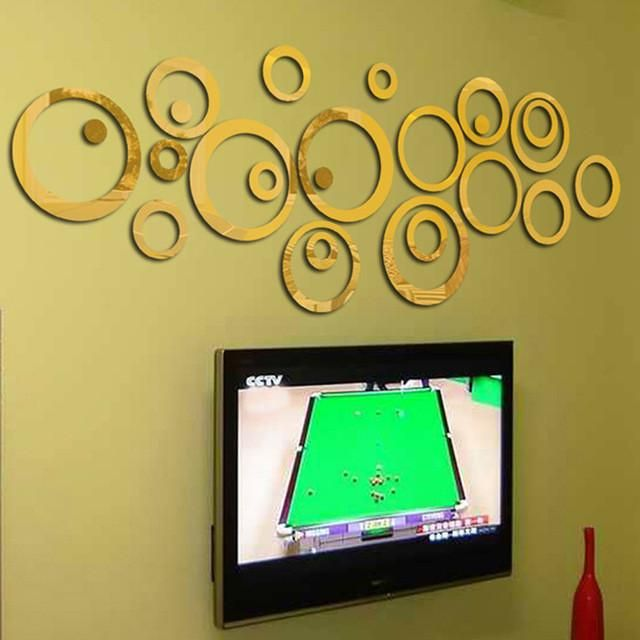 Circles Mirror Style Removable stickers | Products | Pinterest ...