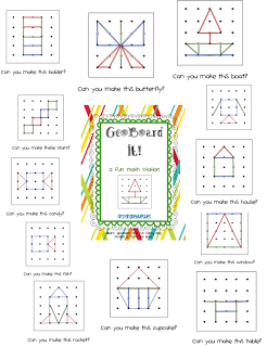 Geoboard Patterns . . . I been looking all over for these!