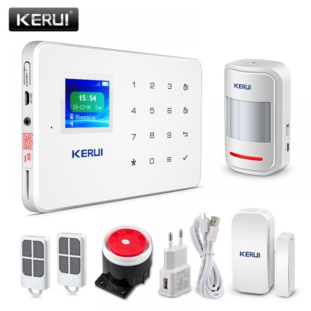 Kerui G18 Wireless Home Gsm Security Alarm System Diy Kit App Control With Auto Dial Motion Home Security Alarm System Wireless Home Security Gsm Alarm System