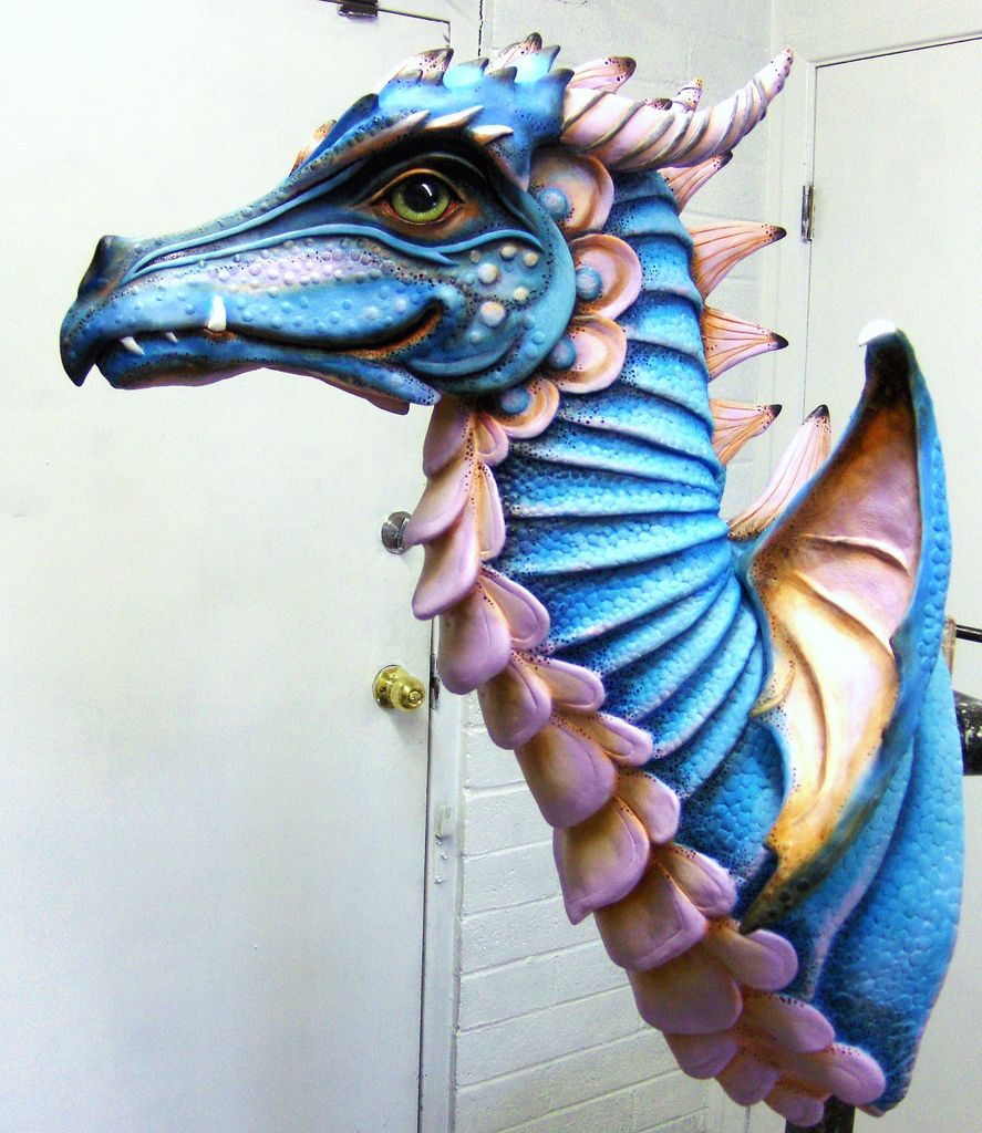 Winged Dragon Clay Dragon Dragon Sculpture Dragon Puppet