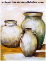 Pinturas Al Oleo Buscar Con Google Jarrones Pintu