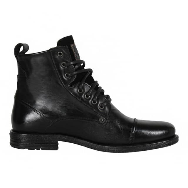 Emerson Leather Boots In Black - Black Levi's 6Ce39mcNC