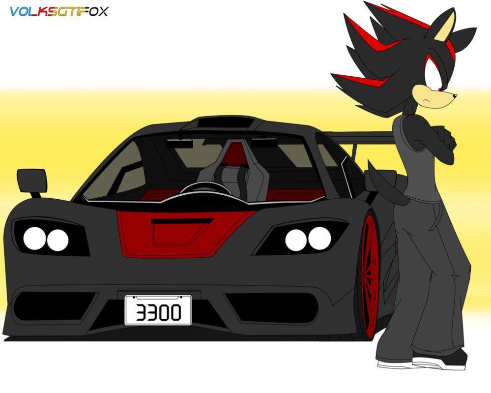 Shadow Hedgehog S Car By Volksgtifox Deviantart Com On Deviantart Shadow Car Racing Art