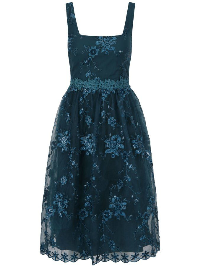 386c237f7e91 Zelené šaty na ramínka s flitrovanými detaily Little Mistress ...