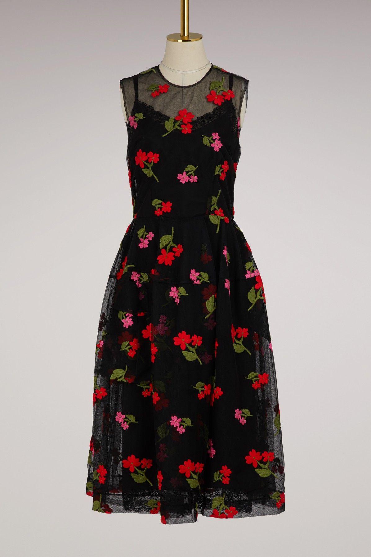 Pocket Bell Embroidered Dress Simone Rocha 4u7cw