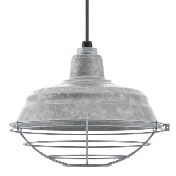 15 The Old Dixie Cord Hung Pendant 975 Galvanized Standard Black Bat Lightingbarn