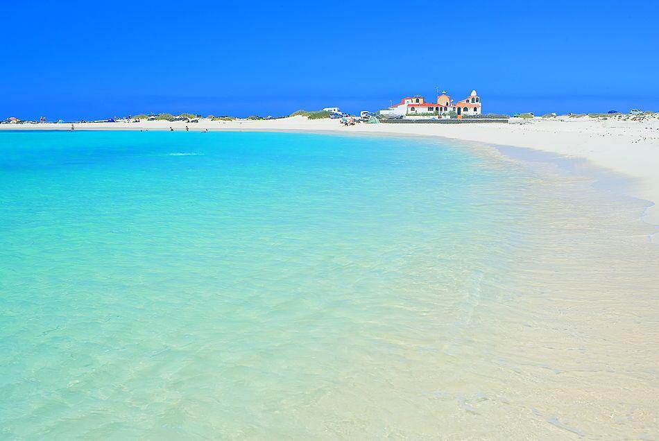 Sandy beach, El Cotillo, Fuerteventura, Canary Islands, Spain, Atlantic, Europe