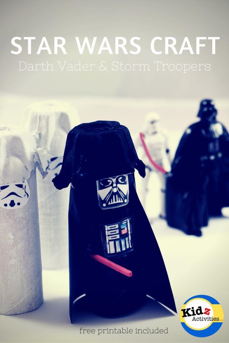 Star Wars Craft Darth Vader And Storm Troopers Kidz Activities
