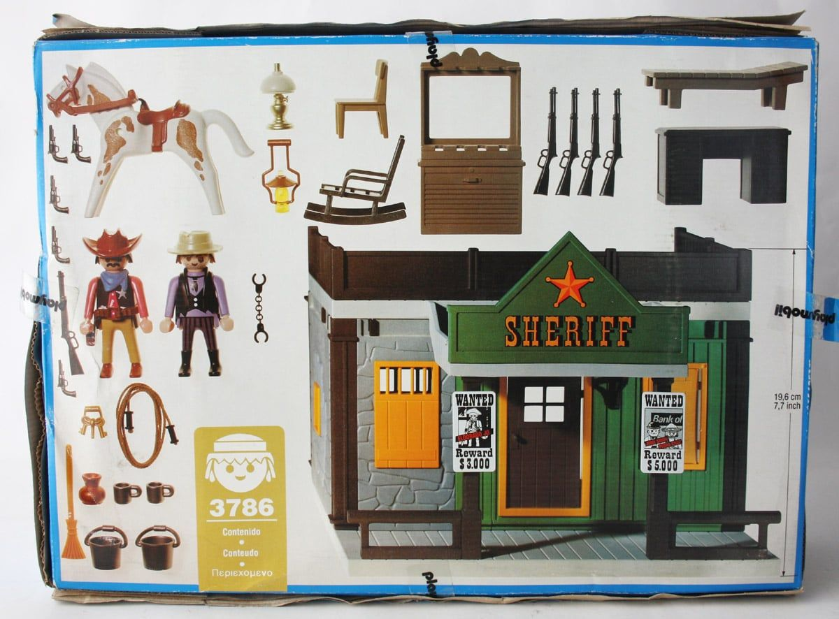 Very Rare Vintage 1994 Playmobil 3786 Sheriff 039 S Office Playmobil Sheriff Sheriff Office