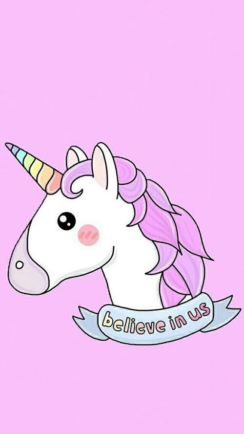 Unicorn Pink And Overlay Kep Dengan Gambar Unikorn Kartun Poni
