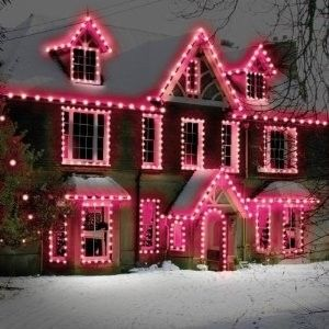 pink lights create a gingerbread house effect found on drlillcom
