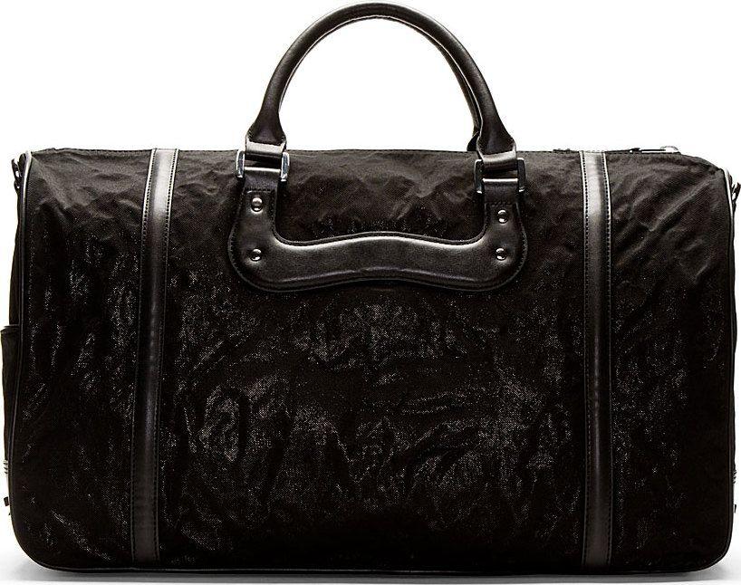 Diesel - Black Shimmer Vanguarding Duffle Bag | SSENSE