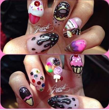24 trendy ideas nails stiletto bling jewels  summer gel