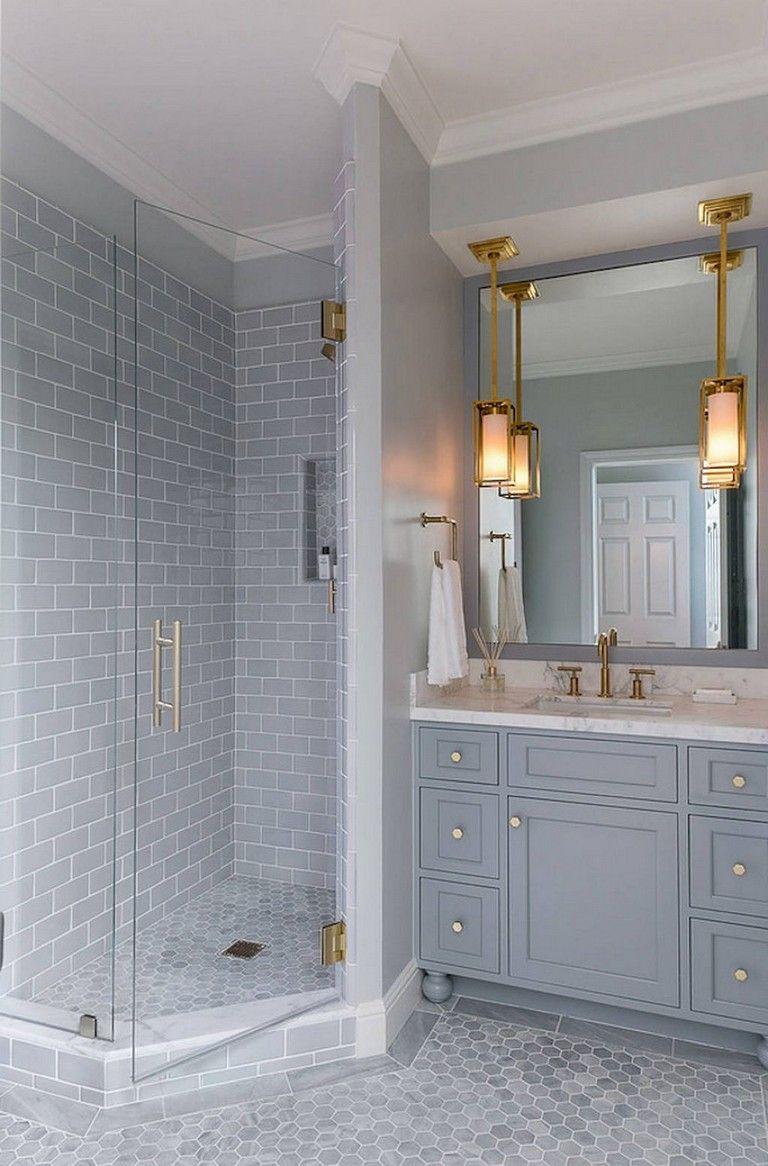 53 Amazing Modern Farmhouse Small Master Bathroom Ideas In 2020 Classic Bathroom Design Classic Bathroom Bathroom Remodel Master