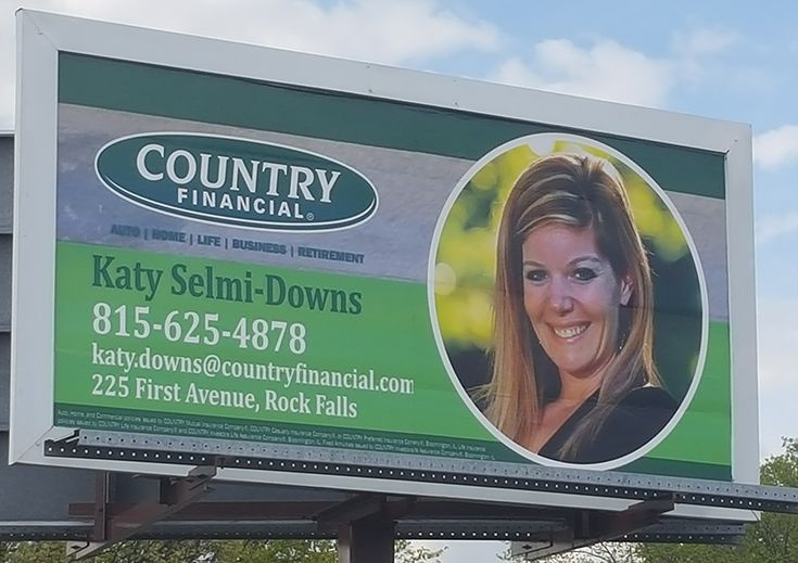 Billboard For Country Financial Insurance Agent Katy Selmi Rock