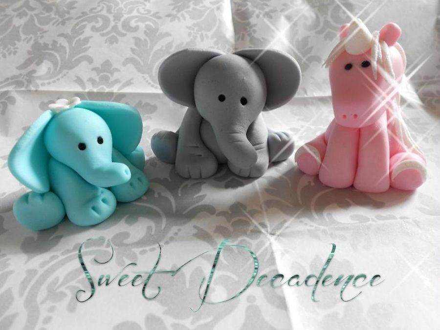 elephant baby shower cake topper baby shower cupcake or cake