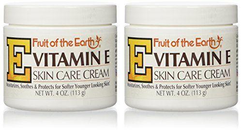Amazon Com Fruit Of The Earth Vitamin E Cream 4 Oz 4 Oz Jar Beauty Skin Care Cream Vitamin E Cream