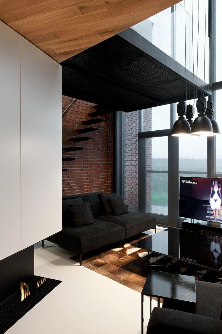 #wohnzimmer Wohnzimmer Ideen Für Schwarzes Sofa U2013 Wie Richtig Kombinieren? # Wohnzimmer #Ideen
