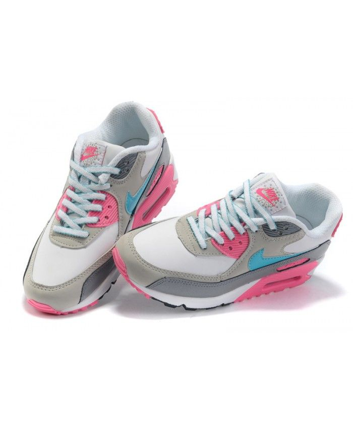 womens nike air max 90 hyperfuse tonal pink grey white