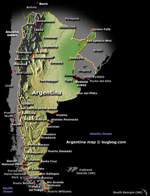 Top Fun Interesting Places To Visit In Argentina Argentina - Argentina map mountains