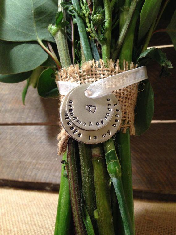 Wedding Bridal Bouquet Charm Memorial Charm by ThirtySixDesign, $22.00