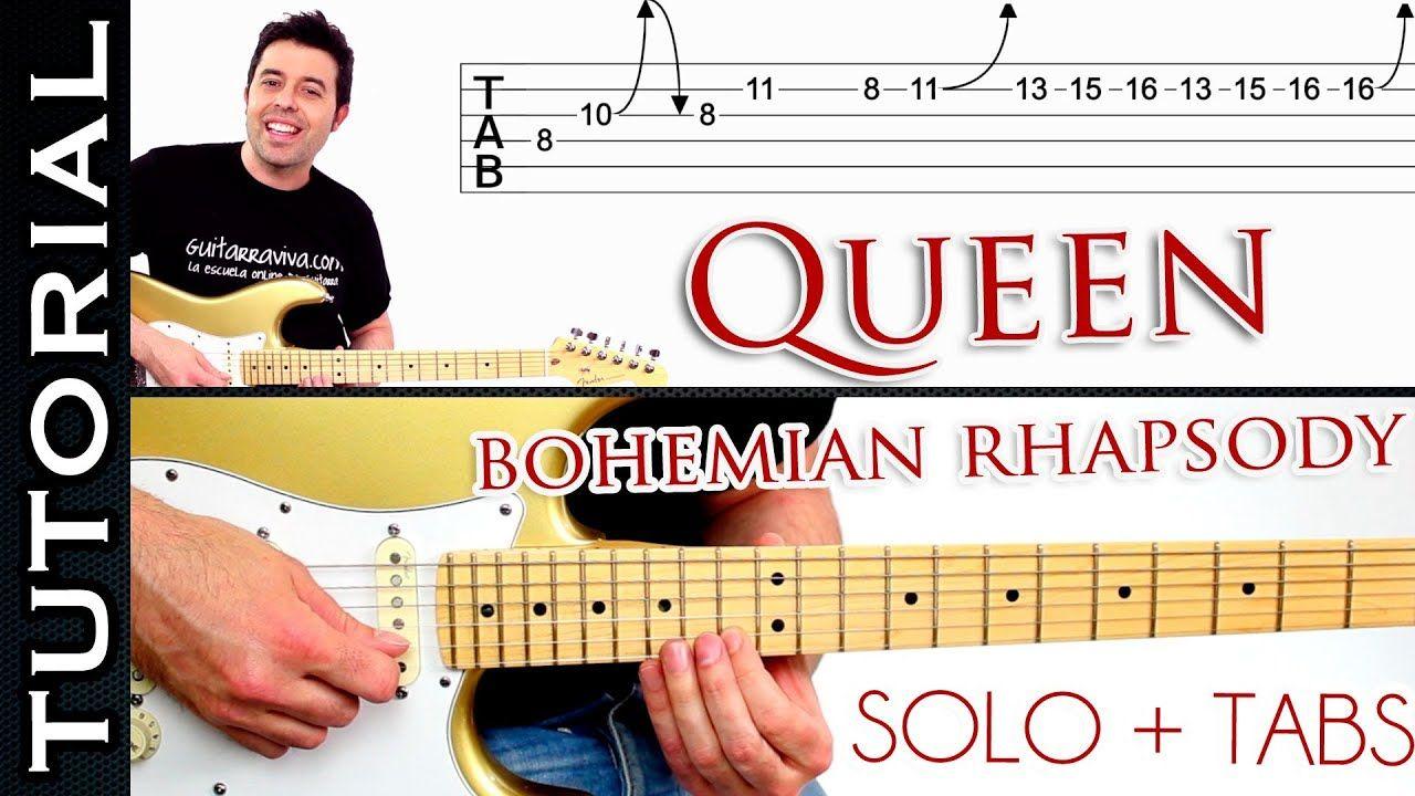 Como Tocar Bohemian Rhapsody De Queen En Guitarra Solo Tutorial Solos De Guitarra Bohemian Rhapsody Guitarras
