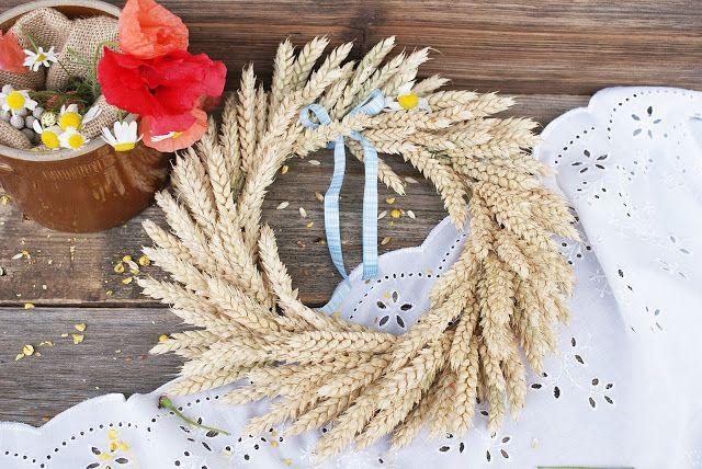 Wianek Z Klosow Pszenicy Fall Wreath Grapevine Wreath Polish Traditions