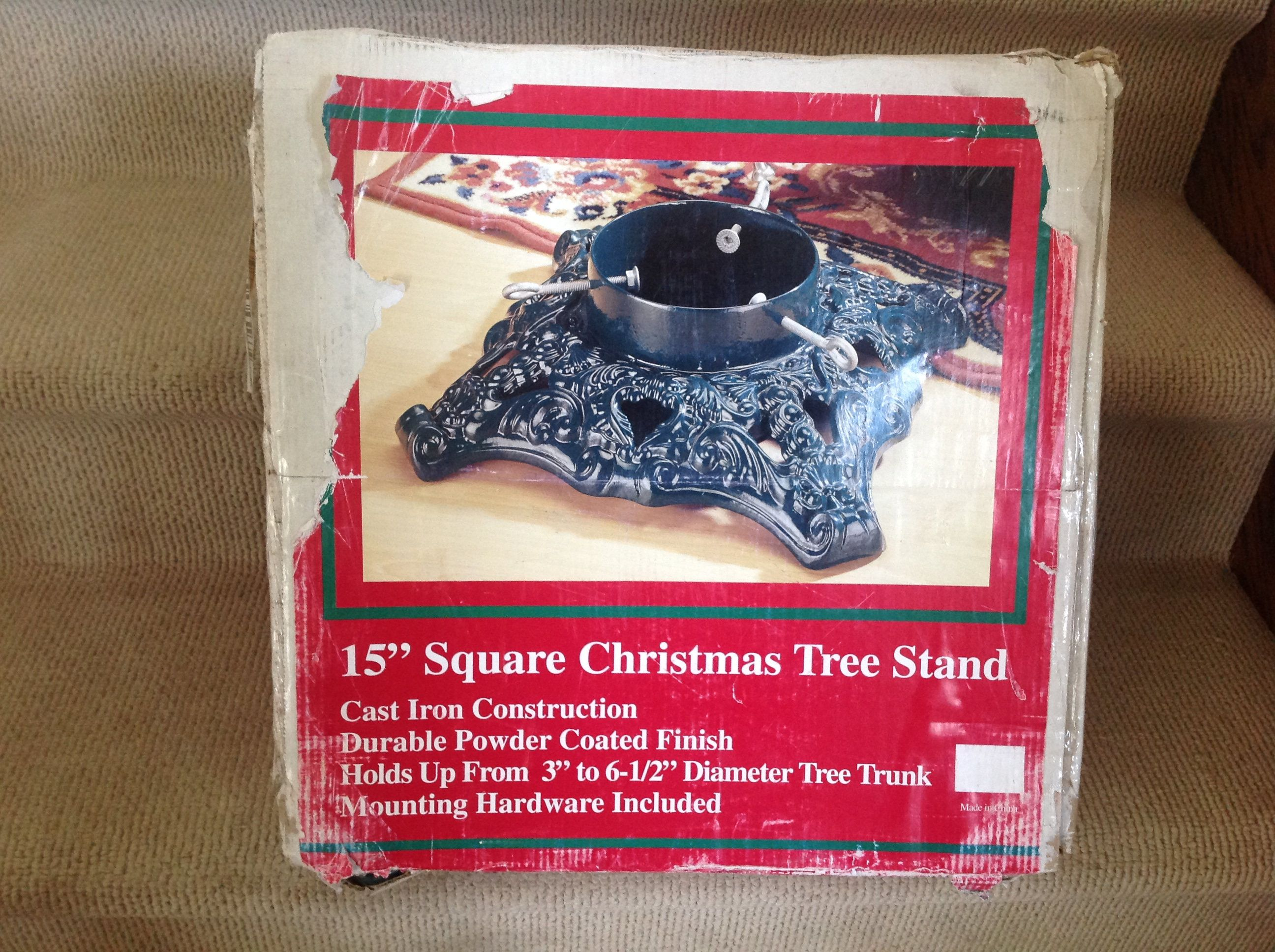 Cast iron christmas tree stand by ace hardware in