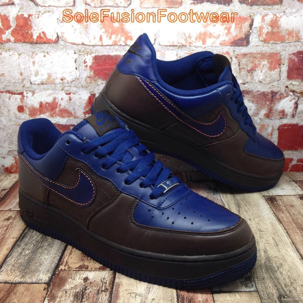 best service 0484f b9ab1 Nike Mens Air Force 1 Trainers Brown Blue sz 9 LTD CB34 Sneaker US 10 EU 44  RARE   eBay