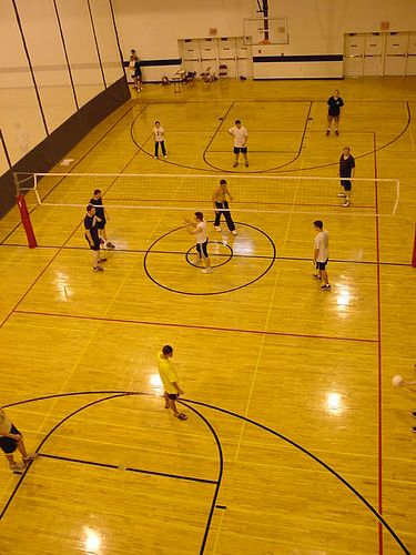 Indoor volleyball court with lines | Volleyball Game Rules ...