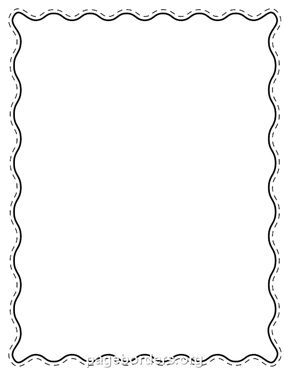 Printable black wavy border. Use the border in Microsoft Word or ...