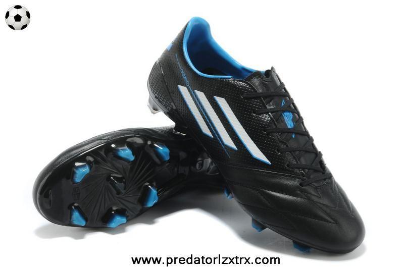 Authentic TRX FG Leather Adidas F50 AdiZero (Black White Blue) Cleats