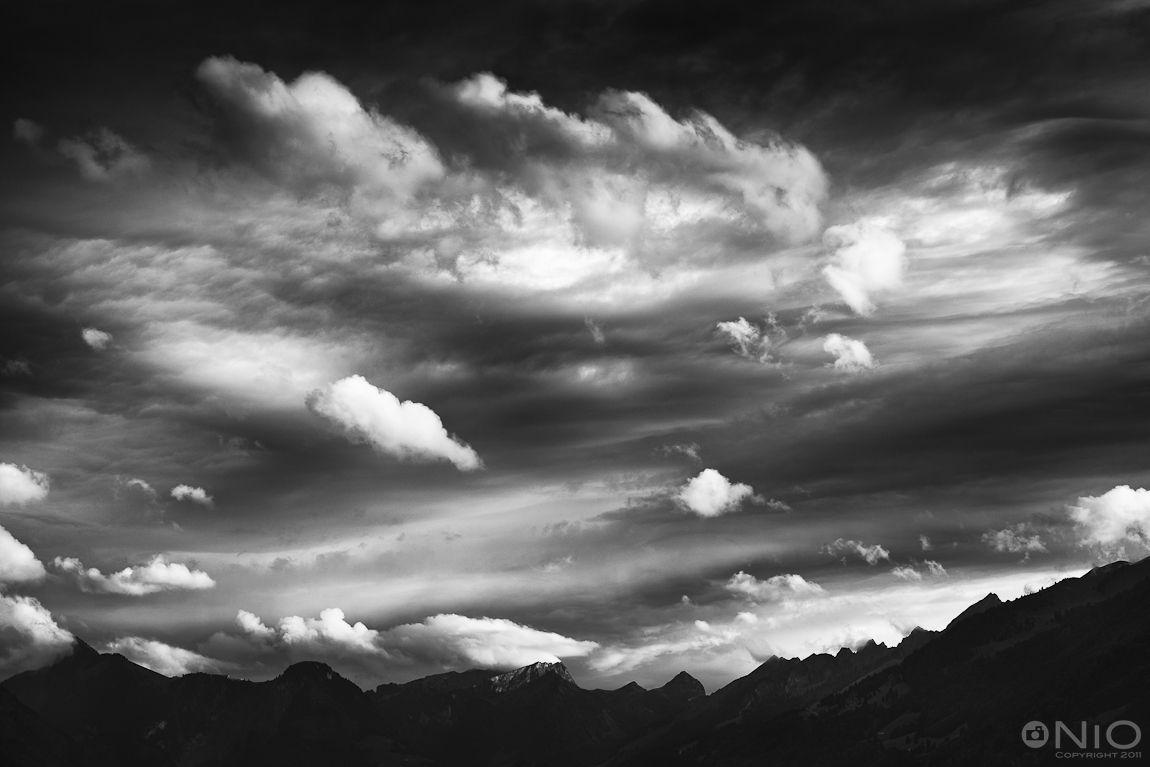 Cloudy Sky In Black White
