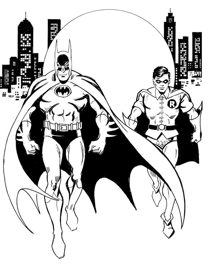 Batman And Robin Coloring Page Batman Coloring Pages Superhero Coloring Pages Coloring Pages