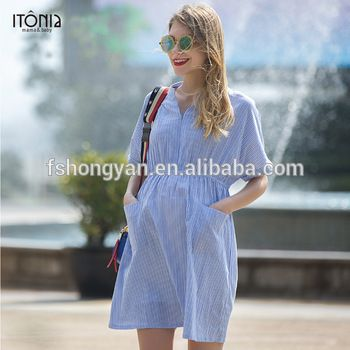 35d453d441f 2017 summer casual short sleeve office maternity dress for pregnant woman