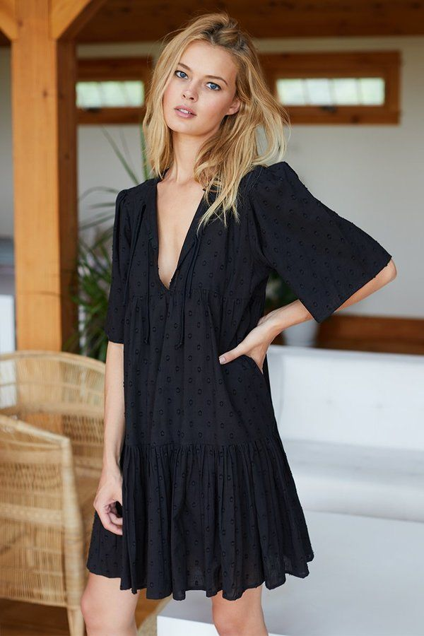 Black Swiss Dot Isla Dress | India Collection by Emerson Fry