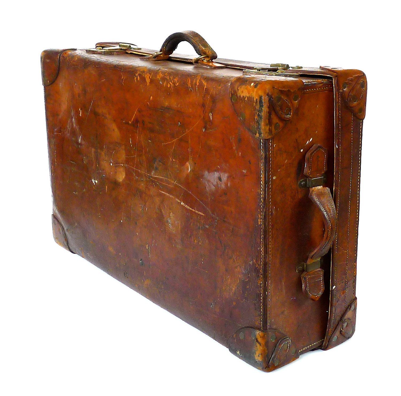 Antique Finnigans Of London Luxury Leather Trunk Suitcase $85000, Via