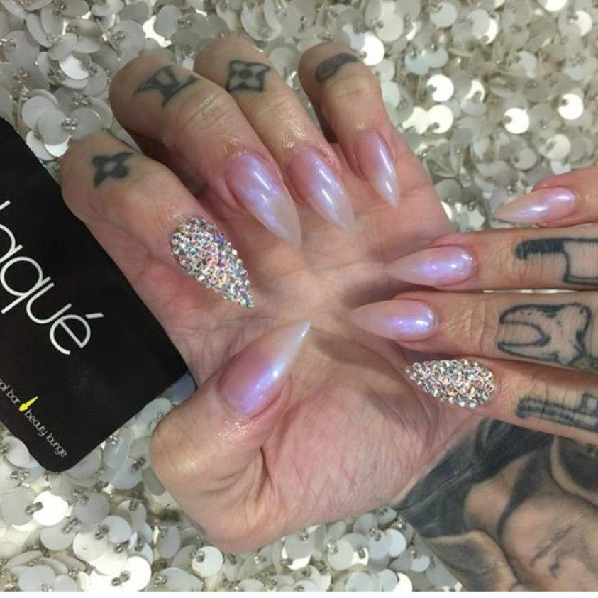 Iridescent Nails Rhinestone Nails Star Nail Designs Laque Nail Bar