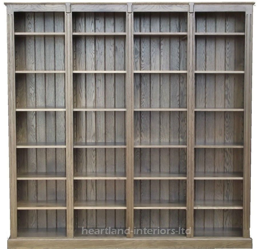 Solid Oak Bookcase,7ft X 7ft Handcrafted Heavy Duty Library